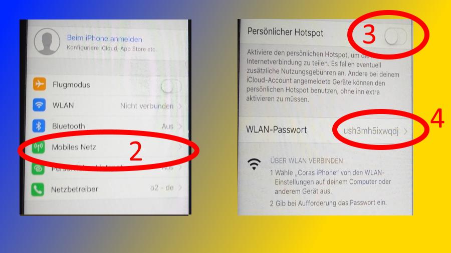 Mobiler Hotspot Router Internet im Wohnmobil IPone Mobiles Netz